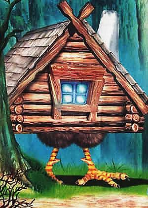 дом бабы яги картинки